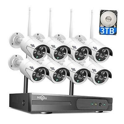 3tb Hdd Pre Install Wireless Security Camera System 8 Ch Nvr 4pcs Hd 1080p I In 2020 Wireless Security Camera System Security Cameras For Home Ip Camera System