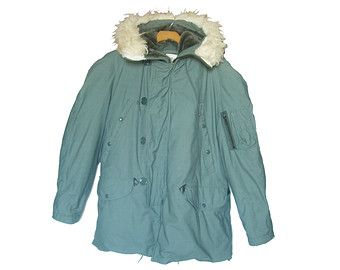 Vintage Arctic Parka N3B Extreme Cold Weather Military Surplus ...