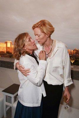 Frances McDormand and Tilda Swinton at event of Burn After Reading - Modern