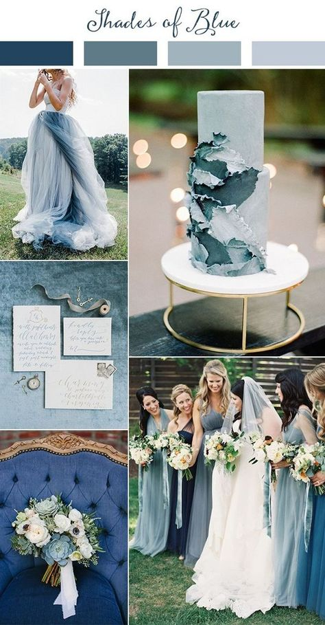 Wedding Trends shades of blue wedding color ideas for 2019 - Planning a 2019 wedding? Come get inspired by these gorgeous 2019 wedding color palette ideas! This year we're finding inspiration from all over the world.