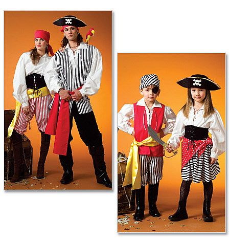 Misses'/Men's / Children's / Boys' / Girls' Costumes    Option 5 for hubby's pirate party at his fencing club