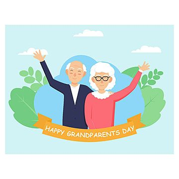 Happy Grandparents Day Flat Design Style Grandparents Design Flat Png And Vector With Transparent Background For Free Download Happy Grandparents Day Grandparents Day Cards Grandparents Day