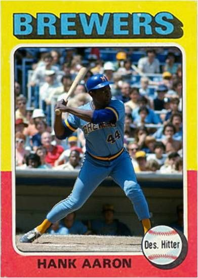 Hank Aaron My Custom 1975 Topps Baseball Cards Baseball