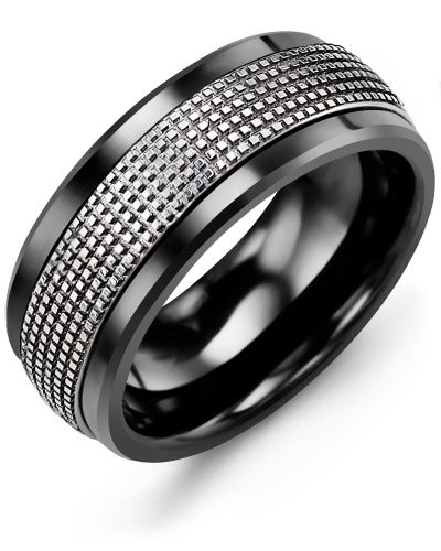 14a2c28c26260 Men's Infinity Carved and Textured Wedding Ring in 2019 | Wedding ...