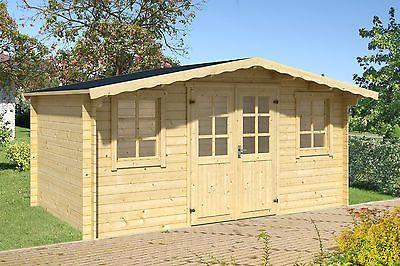 Fußboden Gartenhaus Holz ~ Mm cm gartenhaus trufre fussboden blockhaus