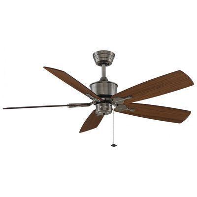 Ventilateur De Plafond Islander 132cm Etain Acajou Fanimation Ventilateur Plafond Plafond Ventilateur