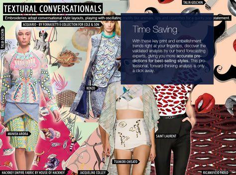 S/S 2016 Women's Print & Embellishment Forecast | trendstop.com