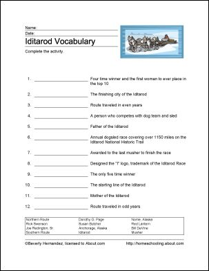 Learn About the Iditarod Race With Free Printables | Social ...