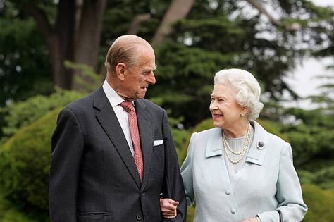 Prince Philip releases photograph with the Queen to
