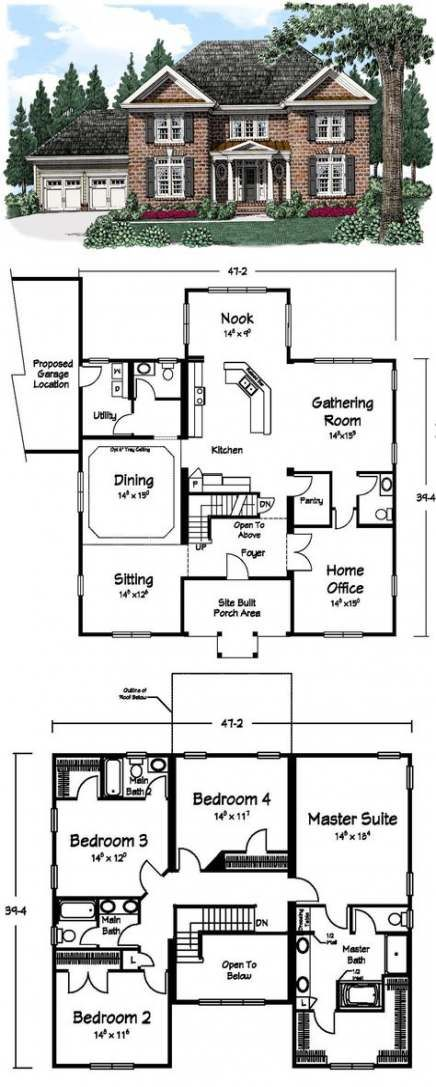 House Architecture Facade Floor Plans 19 Best Ideas House Blueprints Sims House Plans Dream House Plans