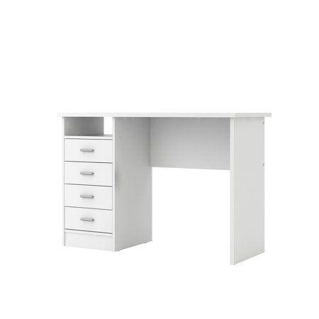 Home White Desk Bedroom Desk With Drawers Desk