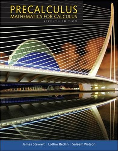 for Precalculus Mathematics for Calculus 7th Edition Stewart