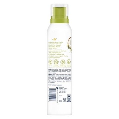 Dove Coconut Oil Paraben Free Shave Body Wash Mousse 10 3 Fl Oz Dove Body Wash Paraben Free Products Oil Body Wash