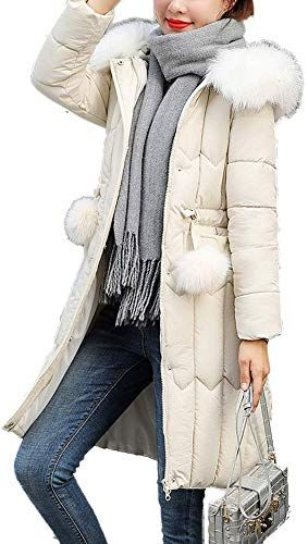 WAWAYA Mens Warm Winter Embroidery Hooded Down Quilted Jacket Parka Coat Outerwear