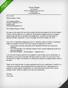 mechanical engineer cover letter sample | cover letter ...