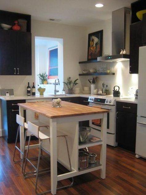 kleine-Küche-mit-eckiger-Thekejpg (600×893) Home Pinterest - tresen für küche