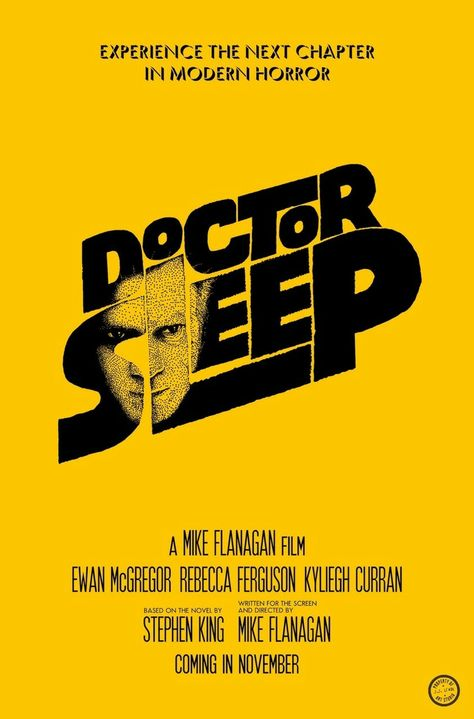 New poster for DOCTOR SLEEP, that emulates the classic poster Saul Bass created for THE SHINING.