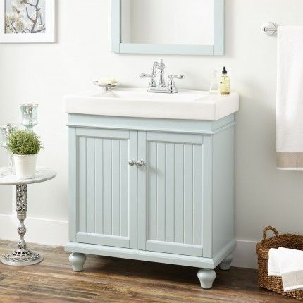 30 Lander Vanity Cabinet And Sink Sage Green Bathroom Vanity Makeover Diy Bathroom Vanity Makeover Blue Bathroom Vanity