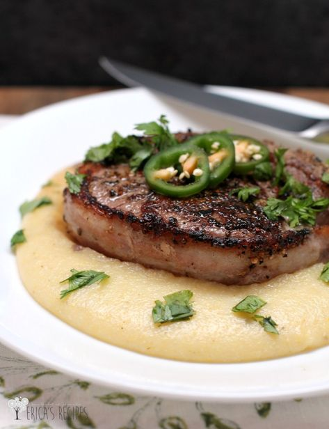 Bacon-Wrapped Peppercorn Filet with Pepperjack Grits 4W2