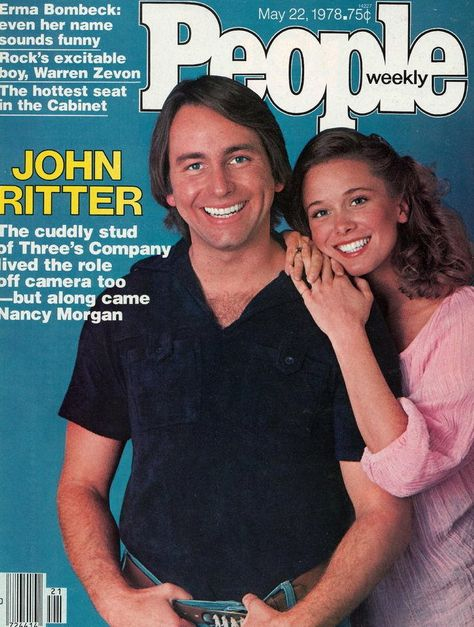Vintage People Magazine John Ritter May 22 1978  Date Published: May 22, 1978 Cover Feature Photo: John Riiter and Nancy Morgan Ritter  COVER STORY Single Stud No More Three's Company Pays the Bills, but Off Camera John and Nancy Ritter Find Two's Lovely.