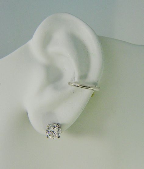 20g Pierced Conch Cartilage Hoop Earring 14g Gauge POST Solid Sterling Silver Body Piercing Filigree Hoop for Conch Piercing E1CRNSSPOST