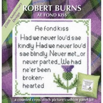 Textile Heritage Robert Burns Ae Fond Kiss Cushion Panel Picture