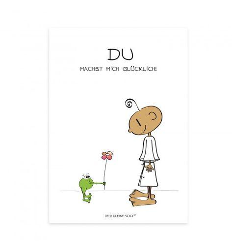 DU machst mich glücklich... Jedes wunderschöne Motiv auf unseren Postkarten wird mit viel Liebe, Leidenschaft und Hingabe von Barbara Liera Schauer entworfen und gezeichnet. Die Postkarten vom kleinen Yogi sind voller Freude, Leichtigkeit, Vertrauen, Liebe, Spaß und Humor. Ob Klein oder Groß, vermitteln die positiven Illustrationen Lebensfreude und zaubern ein Lächeln auf´s Gesicht.