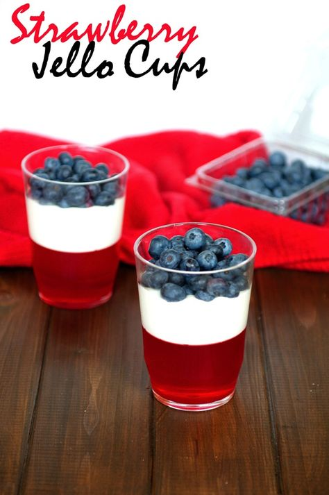 Strawberry Jello Cups-The Almond Eater