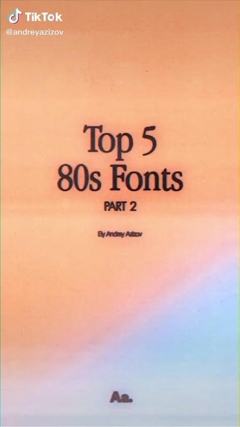 80s inspired font ideas