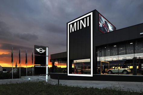 http://www.fcmarchitects.be   Construction of a MINI car dealership   Photographer: Serge Brison