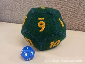 Twelve Sided Felt Die D12 Dice Template 12 Sided Dice Geek Diy