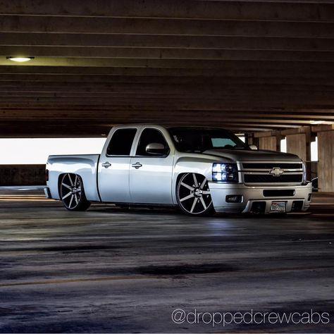 #Chevy #Silverado #gmc #Sierra #dropped #Droppedcrewcabs #lowered #suelo