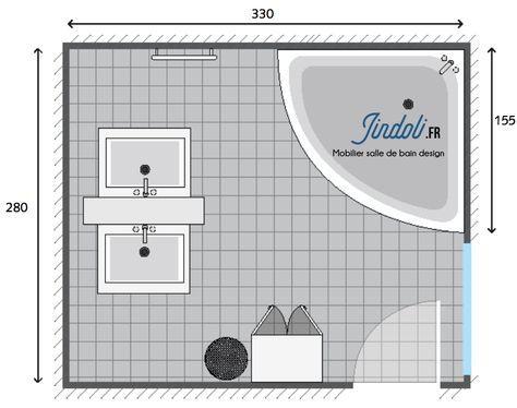 Exemple Plan De Salle De Bain De 10m2 Plan Salle De Bain Amenagement Salle De Bain Mobilier Salle De Bain