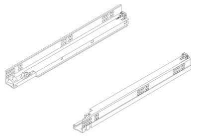 Everbilt 20 In Self Closing Bottom Mount Drawer Slide Set D68820e W W The Home Depot In 2020 Drawer Slides Drawers Types Of Cabinets
