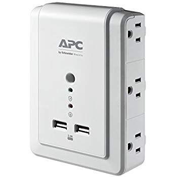 Apc Surge Protector Con Cargador Usb Para Computadora Pe6u21 Amazon Com Mx Electronicos Usb Charging Surge Protector Usb