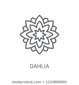 Dahlia Icon Trendy Dahlia Logo Concept On White Background From Nature Collection Suitable For Use On Web Apps Mobile Apps Dahlia Stock Photos Flower Tattoo