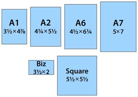 Best  Standard Paper Size Ideas On   Card Sizes