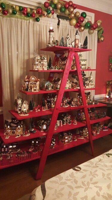Christmas village ladder | christmas | Pinterest | Christmas ...