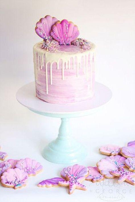 mermaid cake watercolour cake drip cake cookies shell cakes sprinkles beach theme wollongong nsw #baking #baking #photoshoot