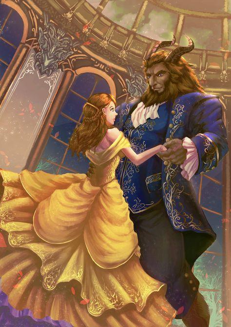 Beauty and the Beast fanart by Lander-laon.deviantart.com on @DeviantArt