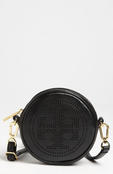 4813ecd03c6 Tory Burch Perforated Logo Crossbody Bag in Black