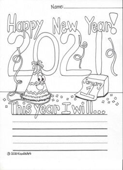 Students Will Enjoy Writing And Coloring About Their New Year S Resolution F Kindergarten Math Worksheets Free Kindergarten Math Free New Years Resolution Kids