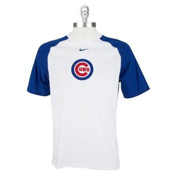 Nike Chicago Cubs Raglan Tee #VonMaur #Nike #Cubs #Baseball