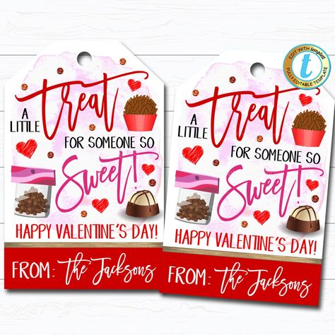 🐕 Big deals! Valentines Gift Tags, A Little Treat For Someone Sweet, Staff School Valentine Candy Chocolate Cookie Treat Gift Label DIY Editable Template only at $7.75 Hurry. #ValentineGiftTag #CookieCandyTag #ThankYouTag #SchoolPtoPta #TreatBagLabel #ValentinesDayGift #SomeoneSoSweet #HowSweetItIs #ChocolateValentine #ALittleTreatFor