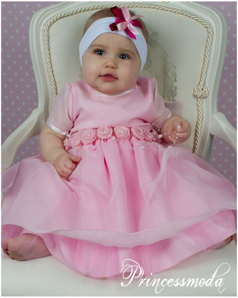 leila - taufkleid in rosa! charmant! - princessmoda