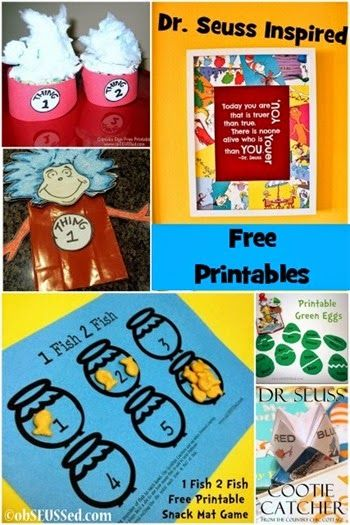 obSEUSSed: Creative Dr. Seuss Inspired Free Printables