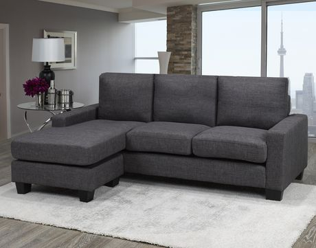 Brassex Riley Sectional Sofa Grey Walmart Canada Sectional Sofa Comfortable Sectional Sofa Comfortable Sectional
