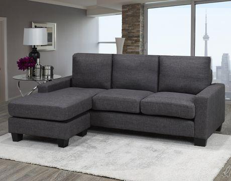 Brassex Riley Sectional Sofa Grey Walmart Canada Comfortable Sectional Sofa Sectional Sofa Comfortable Sectional