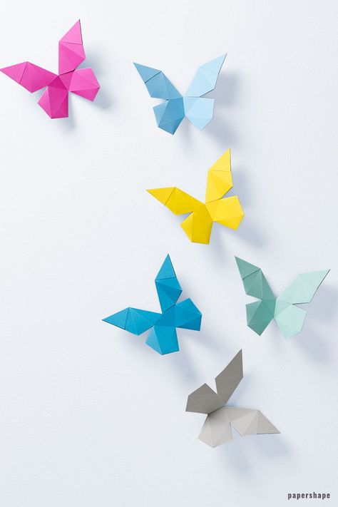 3d Papier Schmetterlinge Selber Machen Paper Folding Art