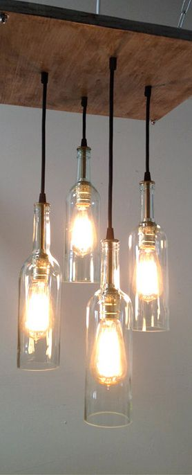 Put a bulb in it 24 upcycled pendant lights made from thrifty put a bulb in it 24 upcycled pendant lights made from thrifty vintage treasures thrifting decanter and crystal decanter aloadofball Image collections